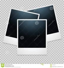 Download Realistic Photo Frames On Transparent Background Stock Vector