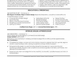 Interior Design Resume Format Pdf Examples Objectives Intern