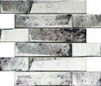 Subway Tile Backsplash For Kitchen Infinity Blue 2x12 Glass Subway Tiles For Kitchen Backsplash