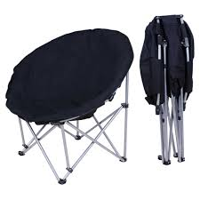 100 Oversized Padded Folding Chairs Oversize Moon Chair Black