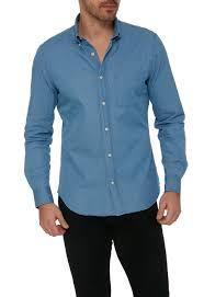 Slim Button Down Graham Light Blue Shirts Mens