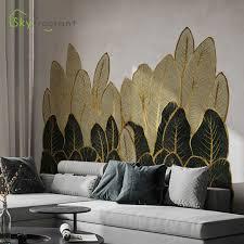 goldene grüne blätter wand aufkleber wohnkultur wohnzimmer