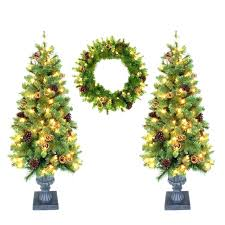 Unlit Artificial Christmas Trees Lowes Home Improvement Shows