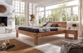 bett doppelbett balkenbett wildeiche massiv geölt schlafzimmer versch größen
