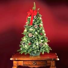 Small Pre Lit Christmas Tree Tabletop The Freshly Cut Within Spectacular With Lights Your Org