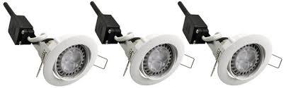 de 3 spots orientables led gu10 4 w blanc easylight brico dépôt