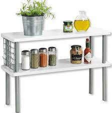 kesper for kitchen home ablageregal mit 2 ablageböden in farbe weiß