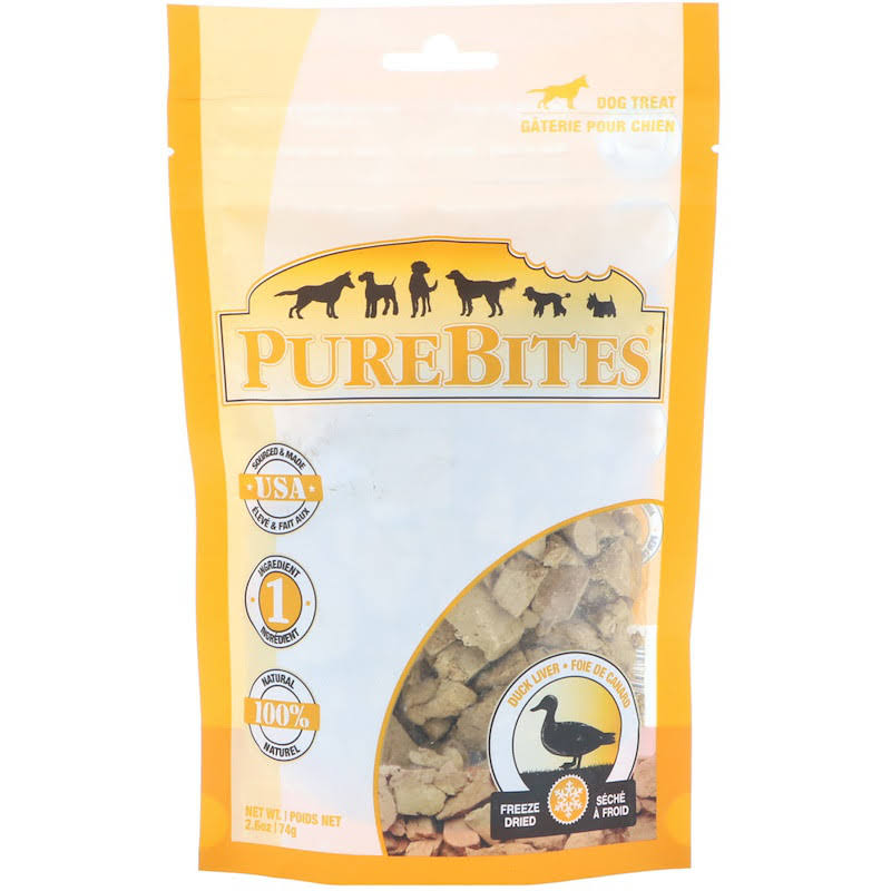 PureBites Freeze Dried Duck Dog Treats - 2.6 oz