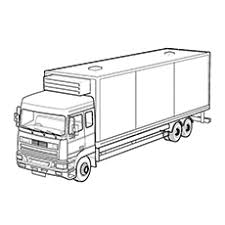 Car Delivery Transport Truck Free Printable Dump Coloring Pages