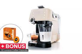 Lavazza A Modo Mio Fantasia Coffee Machine 32 BONUS Capsules Latte
