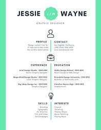 Mint Green Icons Simple Infographic Resume Templates By Canva Throughout