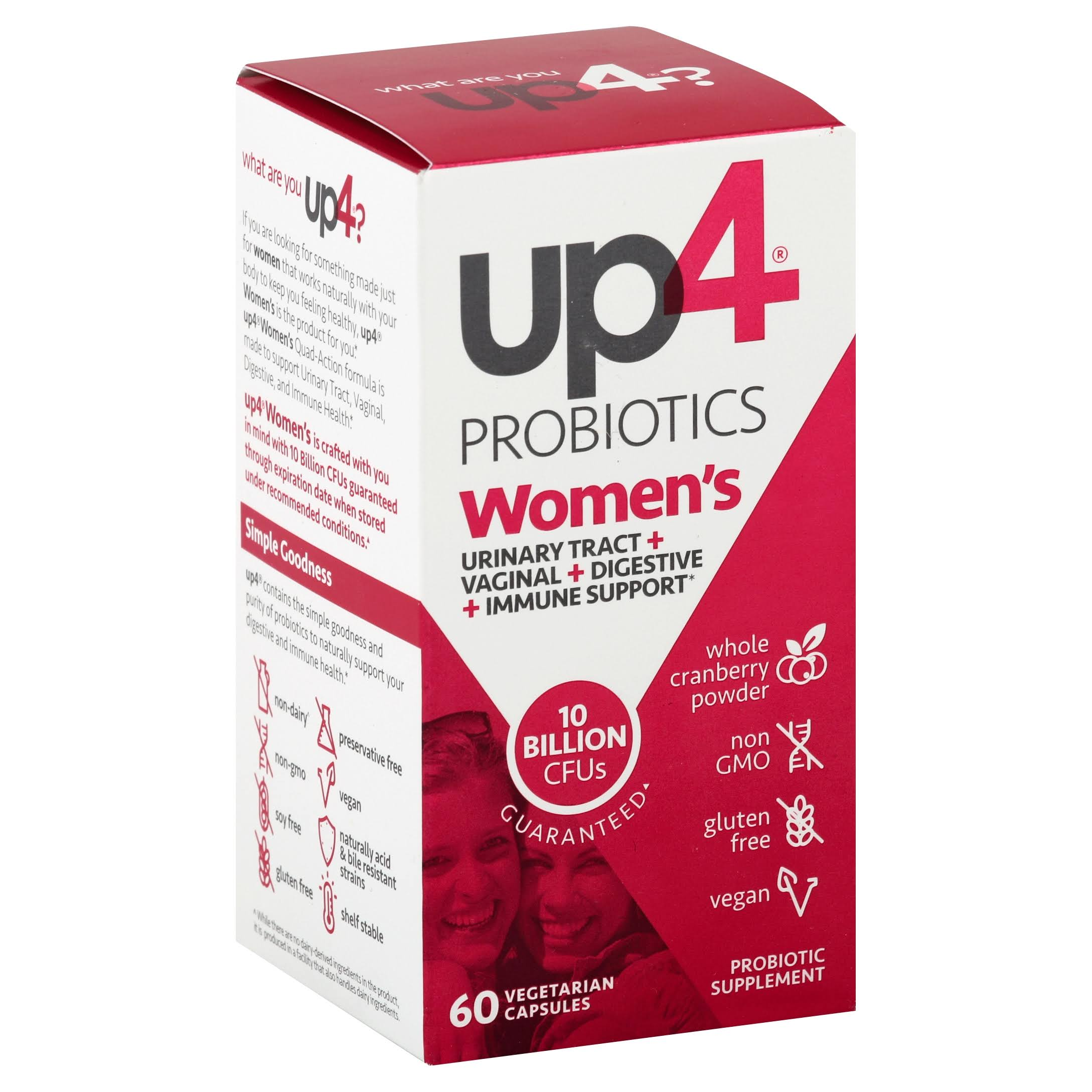 UP4 Women's Probiotic Supplement with Cranberry