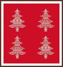 Nordic Pattern Christmas Tree Cross Stitch PDF Instant