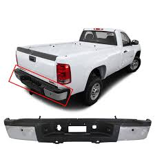 100 Gmc Truck 2014 Amazoncom MBI AUTO Chrome Steel Rear Bumper Assembly For 2011