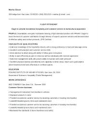 Sample Resume For New Flight Attendant No Experience Example Prior Cover Letter Ideas