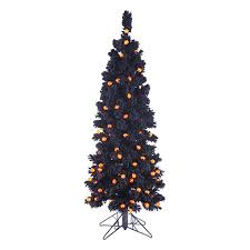 Prelit Christmas Tree Sets Itself Up by Shop Northlight 4 5 Ft Pre Lit Slim Artificial Halloween Tree With