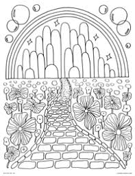 Free Printable Coloring Page For Emerald City In The Land Of Oz