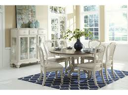 Hillsdale Pine Island 7 Piece Round Dining Set With Wheat Back Side Chairs