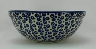 plates bowls müsli blau weiß schüssel bunzlauer keramik