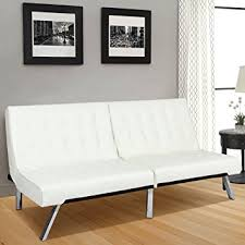 amazon com best choice products modern leather futon sofa bed