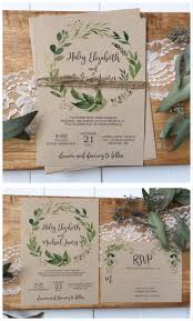 Rustic Wedding Invitation Greenery Weddinginvitation