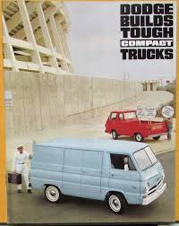 100 67 Dodge Truck 1966 19 Compact A100 Van Pickup Original Sales Brochure