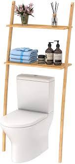 toilettenregal waschmaschinenregal platzsparendes badregal aus bambus bad wc regal lagerregal mit 2 ablagen 173x66x25 cm