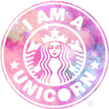 Starbucks Logo Unicorn Starbuckslogo Pink Galaxy Blue
