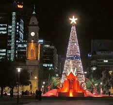adelaide city council christmas tree in victoria square with