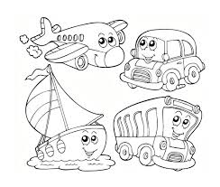 Beautiful Transportation Coloring Pages 76 With Additional Print