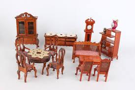 puppenhausmöbel aus holz 21 teile wohnzimmer bad flügel