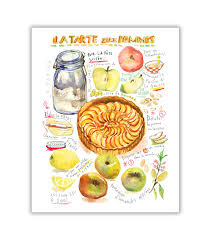 Description French apple pie illustrated