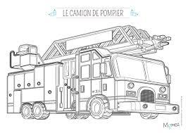 Coloriage Camion De Pompier Avec La Grande échelle Momesnet