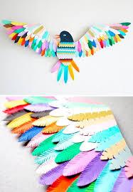 Its Just A Cool Nursery Idea Paper Bird Sculpture Diy Craft