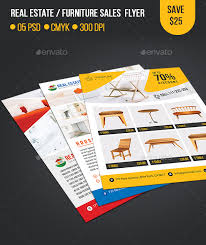 Real Estate Furniture Sales Flyer Template