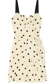 marc by marc jacobs dot ruffled silk dress in natural lyst