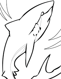 Free Printable Great White Shark Coloring Pages Hammerhead Full Size