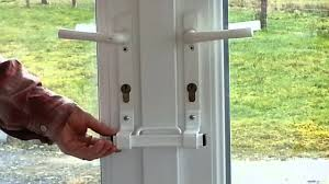 Sliding Patio Door Security Bar Uk by The Burglarybuster 2 French Door Keyless Cuff Lock Youtube