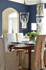 Navy Dining Room Blue Traditional With Walls
