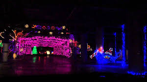 Christmas light show at Las Vegas motor speedway Happy holidays