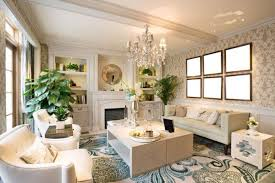 This Living Room Features Medium Height Plants To Fill Space Between The Seating Arrangement And