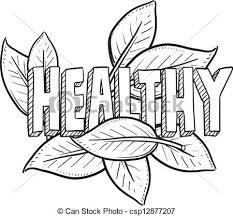 Healthy Food Sketch Vector