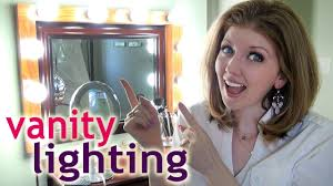 my vanity lighting how to apply makeup at