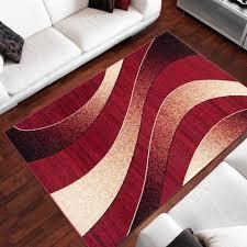 designer teppich wohnzimmer teppich schön muster in rot
