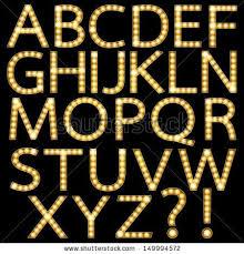 theater marquee lights font set of golden broadway light bulb