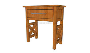 bedside table plans howtospecialist how to build step by step