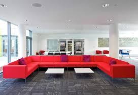 Create Large Seating Designs Red Modular Office Sofa
