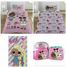 Lol Surprise Dolls Bed Setting Backpack With Matching Lunch Box And Towel Super Cute For My Princess