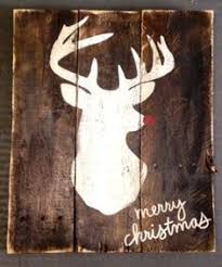 Items Similar To Rudolph Reindeer Merry Christmas Rustic Wooden Sign Made From Reclaimed Pallet Wood On Etsy