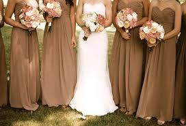 Cognac Bridesmaid Dresses Fall Wedding Colors